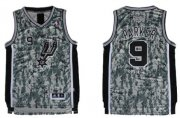 Wholesale Cheap San Antonio Spurs #9 Tony Parker Revolution 30 Swingman Camo Jersey