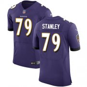 Wholesale Cheap Nike Ravens #79 Ronnie Stanley Purple Team Color Men's Stitched NFL Vapor Untouchable Elite Jersey