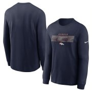 Wholesale Cheap Denver Broncos Nike Fan Gear Playbook Long Sleeve T-Shirt Navy