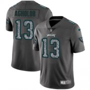 Wholesale Cheap Nike Eagles #13 Nelson Agholor Gray Static Youth Stitched NFL Vapor Untouchable Limited Jersey