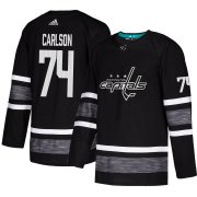 Wholesale Cheap Adidas Capitals #74 John Carlson Black Authentic 2019 All-Star Stitched NHL Jersey
