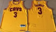Wholesale Cheap Cleveland Cavaliers #3 Thomas Gold Alternate Stitched NBA Jersey