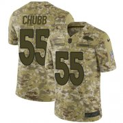 Wholesale Cheap Nike Broncos #55 Bradley Chubb Camo Youth Stitched NFL Limited 2018 Salute to Service Jersey