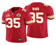 Wholesale Cheap Men's Kansas City Chiefs #35 Charvarius Ward Red 2021 Super Bowl LV Limited Stitched NFL Jersey