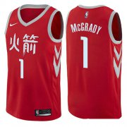 Wholesale Cheap Houston Rockets #1 Tracy McGrady Red Nike NBA Men's Stitched Swingman Jersey City Edition