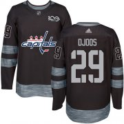 Wholesale Cheap Adidas Capitals #29 Christian Djoos Black 1917-2017 100th Anniversary Stitched NHL Jersey