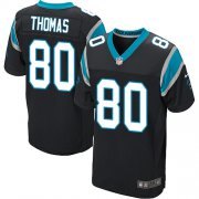 Wholesale Cheap Nike Panthers #80 Ian Thomas Black Team Color Men's Stitched NFL Elite Jersey