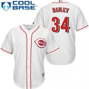 Wholesale Cheap Reds #34 Homer Bailey White Cool Base Stitched Youth MLB Jersey