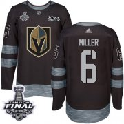 Wholesale Cheap Adidas Golden Knights #6 Colin Miller Black 1917-2017 100th Anniversary 2018 Stanley Cup Final Stitched NHL Jersey