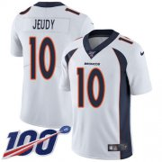 Wholesale Cheap Nike Broncos #10 Jerry Jeudy White Youth Stitched NFL 100th Season Vapor Untouchable Limited Jersey