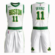 Wholesale Cheap Boston Celtics #11 Kyrie Irving White Nike NBA Men's City Authentic Edition Suit Jersey