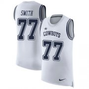 Wholesale Cheap Nike Cowboys #77 Tyron Smith White Men's Stitched NFL Limited Rush Tank Top Jersey