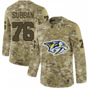 Wholesale Cheap Adidas Predators #76 P.K Subban Camo Authentic Stitched NHL Jersey