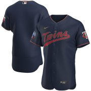 Wholesale Cheap Minnesota Twins Men's Nike Navy Alternate 2020 60th Season Authentic Team Logo MLB Jersey