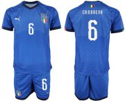 Wholesale Cheap Italy #6 Candreva Home Soccer Country Jersey
