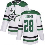 Cheap Adidas Stars #28 Stephen Johns White Road Authentic Youth 2020 Stanley Cup Final Stitched NHL Jersey