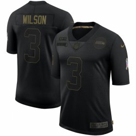 Cheap Seattle Seahawks #3 Russell Wilson Nike 2020 Salute To Service Limited Jersey Black