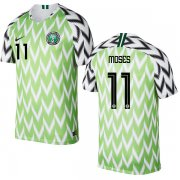 Wholesale Cheap Nigeria #11 Moses Home Soccer Country Jersey