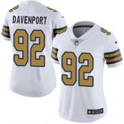 Wholesale Cheap Nike Saints #92 Marcus Davenport White Women's Stitched NFL Limited Rush Jersey