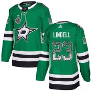 Wholesale Cheap Adidas Stars #23 Esa Lindell Green Home Authentic Drift Fashion 2020 Stanley Cup Final Stitched NHL Jersey