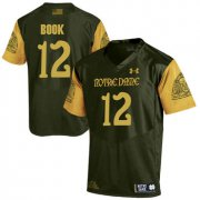 Wholesale Cheap Notre Dame Fighting Irish 12 Ian Book Olive Green College Football Jersey