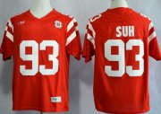 Wholesale Cheap Nebraska Cornhuskers #93 Ndamukong Suh 2013 Red Jersey