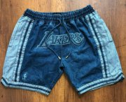 Wholesale Cheap Men's Los Angeles Lakers Light Blue Pockets Swingman Shorts