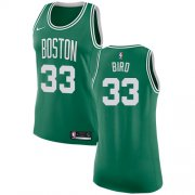 Wholesale Cheap Nike Boston Celtics #33 Larry Bird Green Women's NBA Swingman Icon Edition Jersey