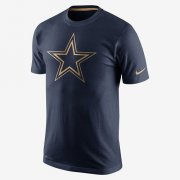 Wholesale Cheap Men's Dallas Cowboys Nike Navy Championship Drive Gold Collection Performance T-Shirt