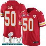 Wholesale Cheap Nike Chiefs #50 Darron Lee Red Super Bowl LIV 2020 Team Color Youth Stitched NFL Vapor Untouchable Limited Jersey