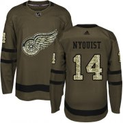 Wholesale Cheap Adidas Red Wings #14 Gustav Nyquist Green Salute to Service Stitched NHL Jersey