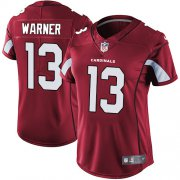 Wholesale Cheap Nike Cardinals #13 Kurt Warner Red Team Color Women's Stitched NFL Vapor Untouchable Limited Jersey