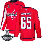 Wholesale Cheap Adidas Capitals #65 Andre Burakovsky Red Home Authentic Stanley Cup Final Champions Stitched NHL Jersey