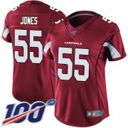 Wholesale Cheap Nike Cardinals #55 Chandler Jones Red Team Color Women's Stitched NFL 100th Season Vapor Limited Jersey