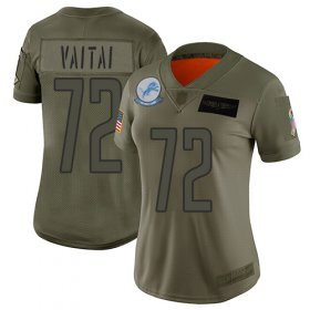Wholesale Cheap Nike Lions #72 Halapoulivaati Vaitai Camo Women\'s Stitched NFL Limited 2019 Salute To Service Jersey