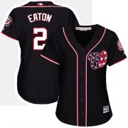 Wholesale Cheap Nationals #2 Adam Eaton Navy Blue Alternate Women's Stitched MLB Jersey