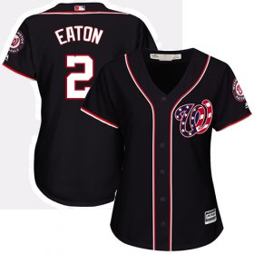 Wholesale Cheap Nationals #2 Adam Eaton Navy Blue Alternate Women\'s Stitched MLB Jersey