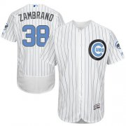 Wholesale Cheap Cubs #38 Carlos Zambrano White(Blue Strip) Flexbase Authentic Collection Father's Day Stitched MLB Jersey