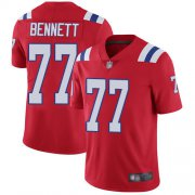 Wholesale Cheap Nike Patriots #77 Michael Bennett Red Alternate Men's Stitched NFL Vapor Untouchable Limited Jersey