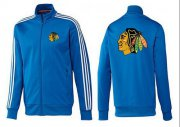 Wholesale Cheap NHL Chicago Blackhawks Zip Jackets Blue-2