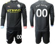 Wholesale Cheap Manchester City Personalized Away Long Sleeves Soccer Club Jersey