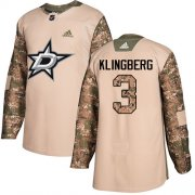 Wholesale Cheap Adidas Stars #3 John Klingberg Camo Authentic 2017 Veterans Day Stitched NHL Jersey