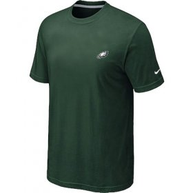 Wholesale Cheap Nike Philadelphia Eagles Chest Embroidered Logo T-Shirt Green