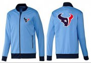 Wholesale Cheap NFL Houston Texans Team Logo Jacket Light Blue