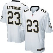 Wholesale Cheap Nike Saints #23 Marshon Lattimore White Youth Stitched NFL Elite Jersey
