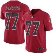 Wholesale Cheap Nike Falcons #77 James Carpenter Red Men's Stitched NFL Limited Rush Jersey