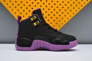 Wholesale Cheap Kids Jordan 12 Hyper Violet Black/Purple