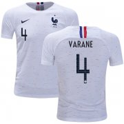 Wholesale Cheap France #4 Varane Away Kid Soccer Country Jersey
