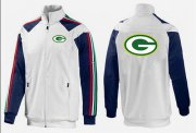 Wholesale NFL Green Bay Packers Team Logo Jacket White_2