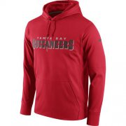 Wholesale Cheap Men's Tampa Bay Buccaneers Nike Red Circuit Wordmark Essential Performance Pullover Hoodie